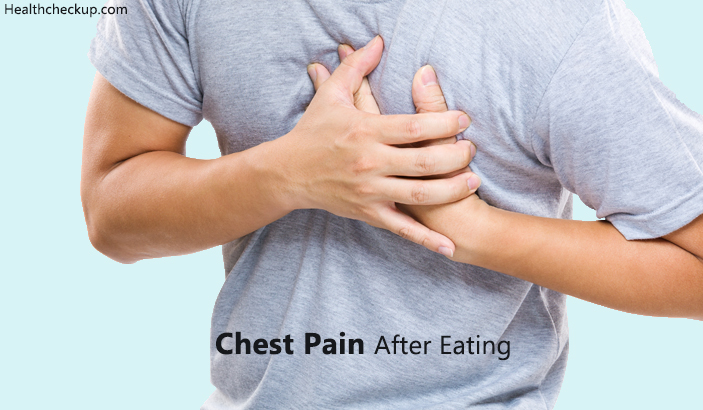 causes for chest pain after eating and treatment for chest pain