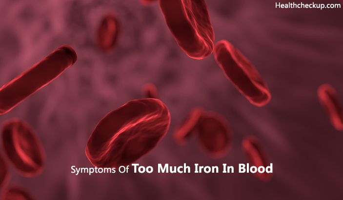 symptoms of too much iron in blood