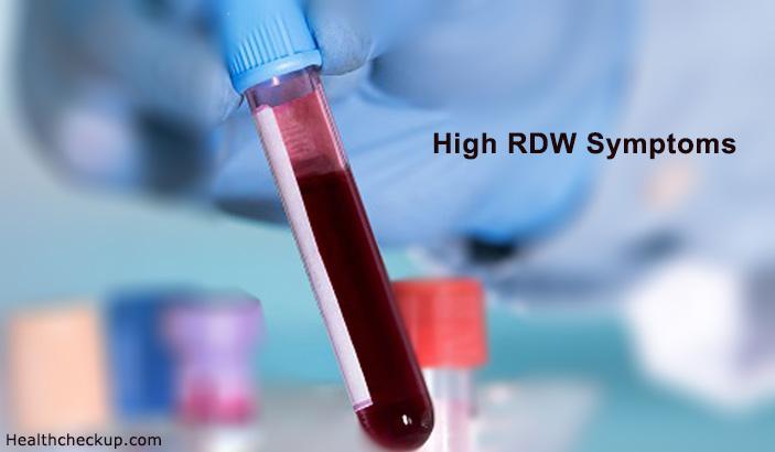 high RDW symptoms