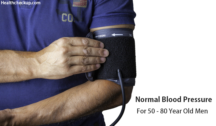 Normal Blood Pressure For Men Over 50, 55, 65, 80